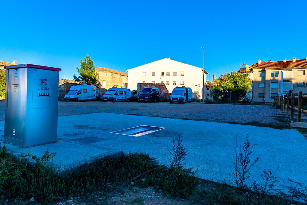 Área de autocaravanas de Alcañiz