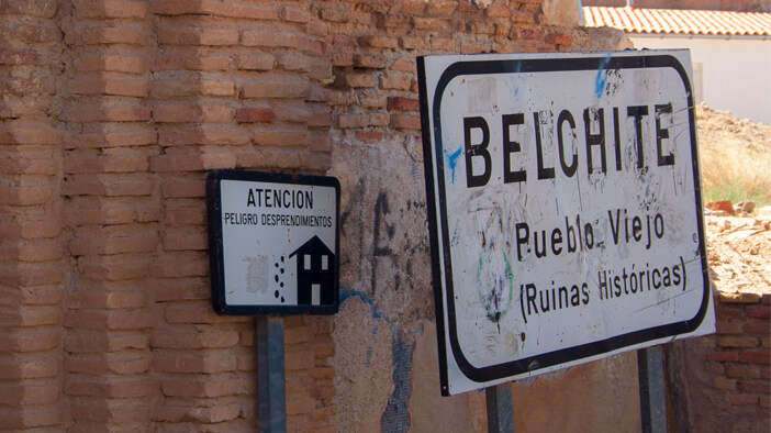 àrea d'autocaravanes de Belchite